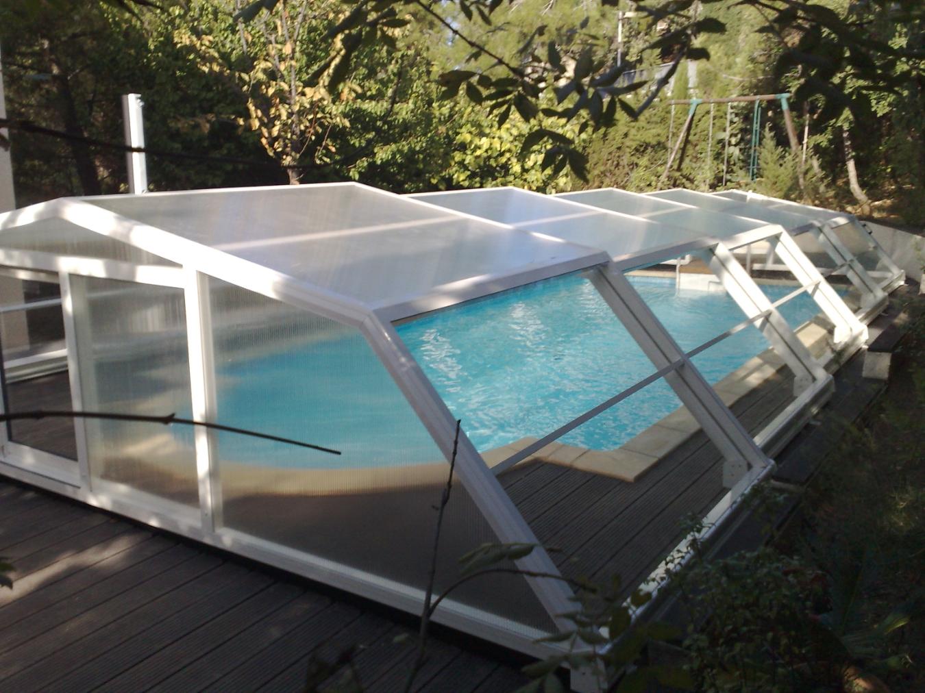Abris piscine mi haut oc an for Abri mi haut piscine